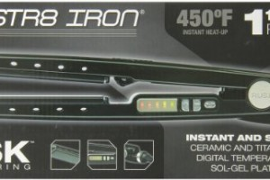 Rusk RSK732 Ceramic Flat Iron 1-1/4 Inch