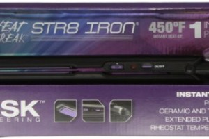Rusk RSK806 Professional Str8 Ceramic Flat Iron 1 Inch